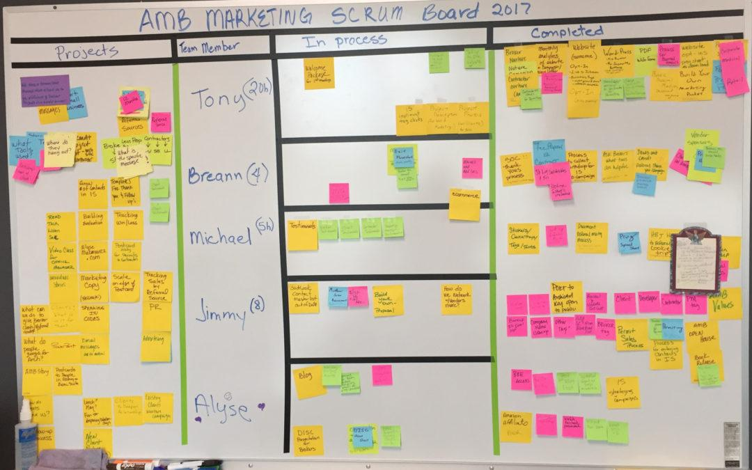 SCRUM for Marketing Implementation in a Small Architectural Firm